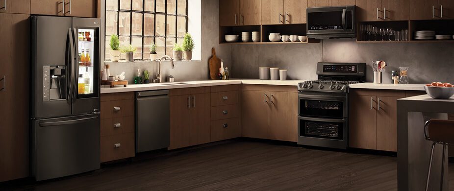 LG Black Stainless Steel Kitchen